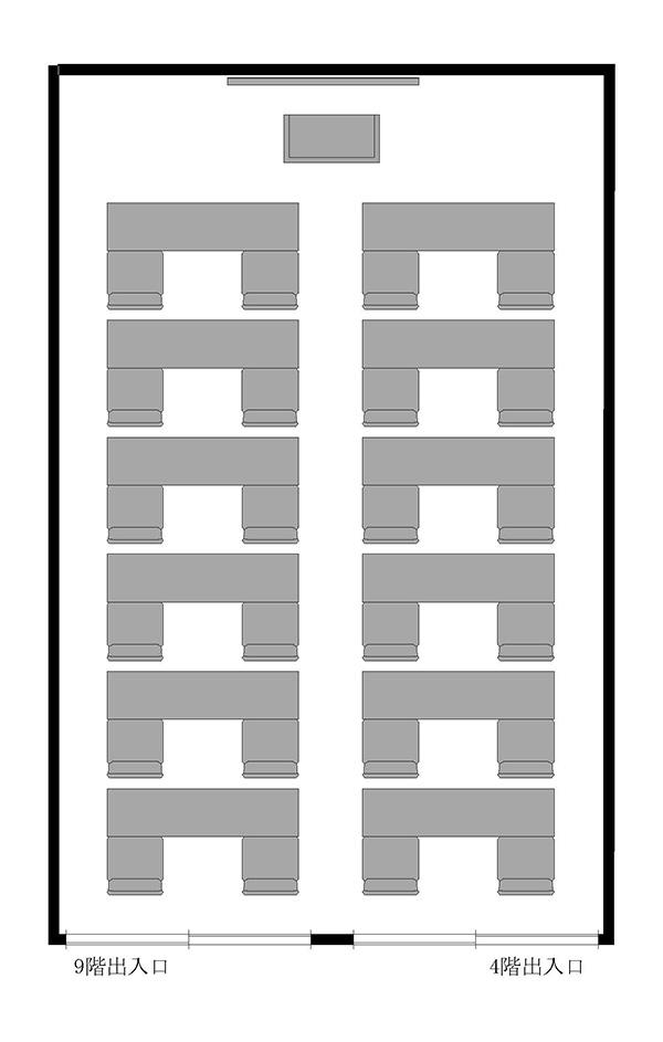 試験形式(2名掛24名)